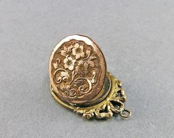 Antique Locket Pendant Picture Locket Engraved Locket Wedding Jewelry Antique Jewellery Antique Collectibles