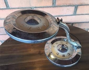 Vintage Ford Hubcap Lamp