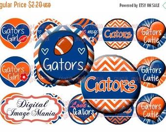 INSTANT Download Gators 4x6 Digital Printable 1 Inch Circle Bottle Cap Images (101)