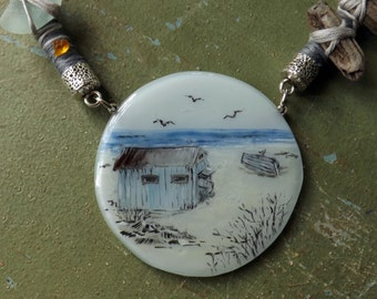 Klovharun (fused glass necklace)