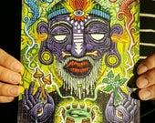Blotter Print - Witch Doctor - Original Art by Ryan Gardell