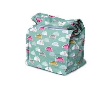 Insulated lunch bag - Clouds