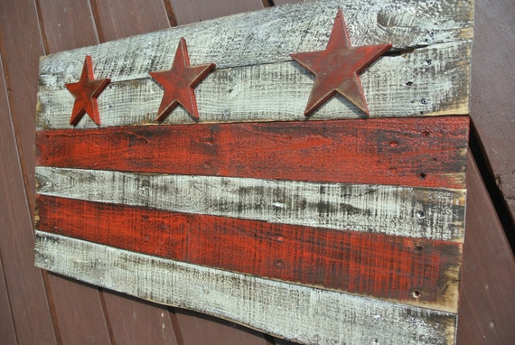 3d washington dc flag distressed reclaimed wood district of for Reclaimed wood dc