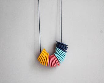 Polymer Clay Jewelry - Colourful Polymer Clay Necklace - Fimo Jewelry - Colourful Clay Necklace - Minimalist Necklace - Colourful Jewelry