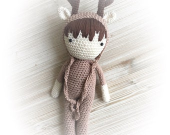 Stuffed toys reindeer, crochet reindeer, crochet toy, christmas reindeer, christmas gift, reindeer baby, child gift, newborn birth gift
