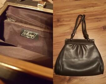 VINTAGE Brown handbag / Purse bag / Small handbag / 70s