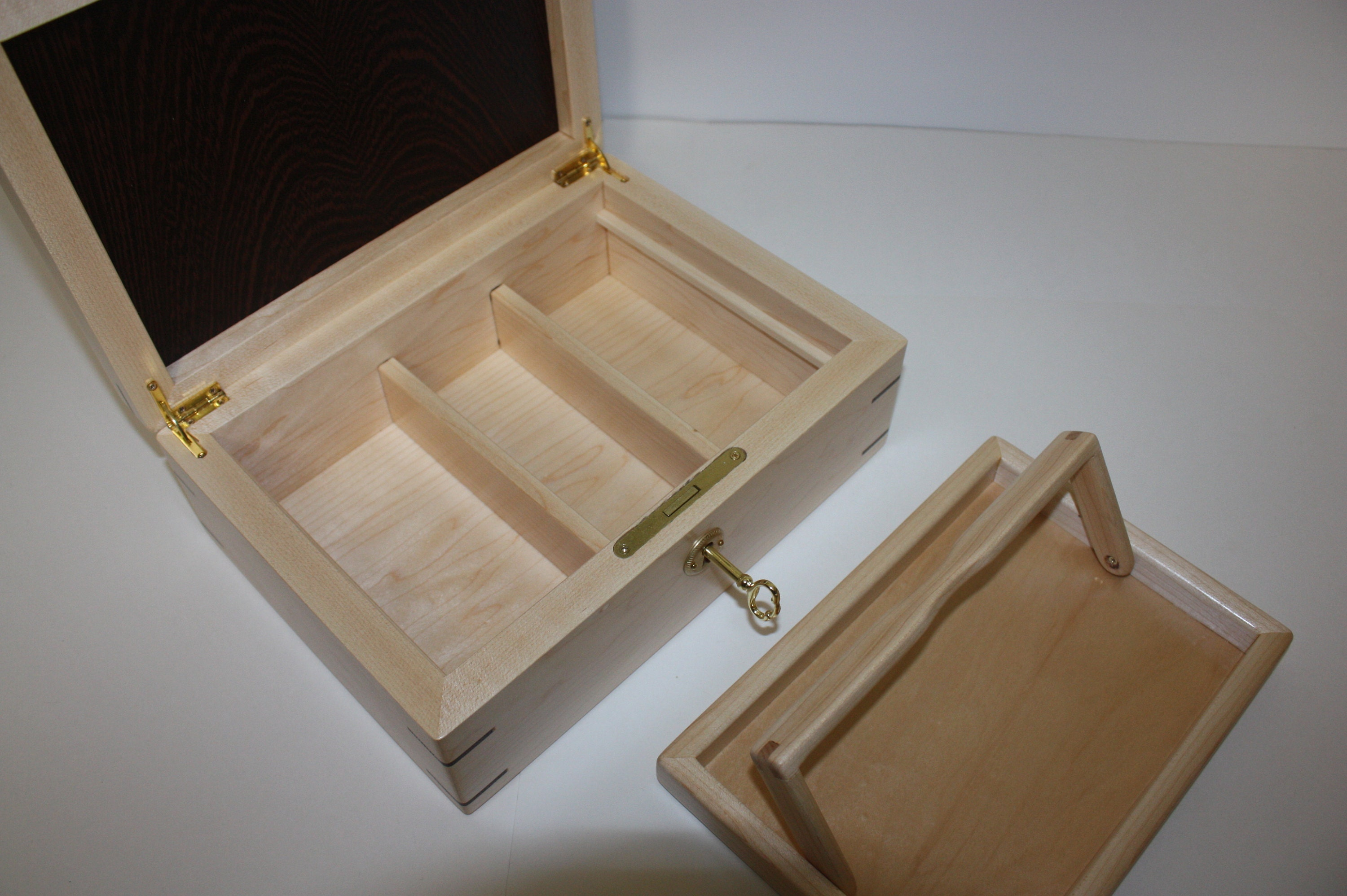 Locking Box with Dividers and Tray