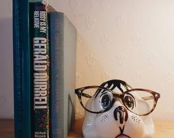 Vintage Ceramic Dog Glasses Holder/Stand