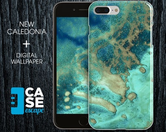 Geo Collection x New Caledonia Phone Case, iPhone X, iPhone 8 Plus, Protective iPhone Case, Galaxy s8 Nature Beach Ocean CASE ESCAPE