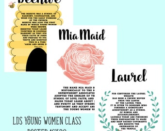 LDS Young Women class posters- 16x20