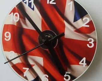Union Jack Flag CD Wall Clock