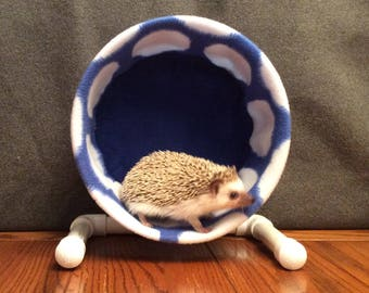 Wheel Cover, Royal Blue with White Polka Dots, with Waterproof back, for Hedgehogs, Rats, and other Small Animals