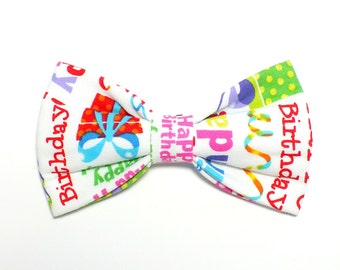 Happy Birthday Dog Bow Tie, pet bow tie, collar bow tie, wedding bow tie