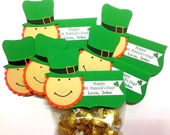 St. Patrick's Day Treat Bag Toppers, St. Patrick's Day Favors, Leprechaun Treat Bags, St. Patty's Day Party Favors, Treat Bags Candy Bags-12