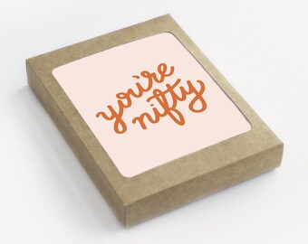 You're Nifty - Valentine Card - Galentine - Pack of 8