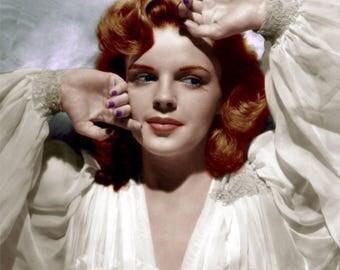 5x7 Judy Garland Recolored Photograph