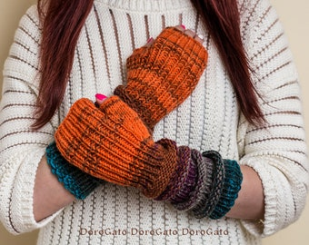 Knit pattern, Knit gloves pattern, fingerless gloves pattern, knit mittens pattern, Knit gloves, Instant Download /6002/