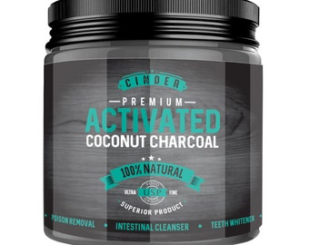 Charcoal Activated Powder PREMIUM GRADE Coconut Derived - Charcoal Activated Powder by Cinder