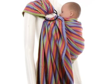 Ring Sling - Daiesu Bubblegum Purple - Woven Baby Wrap - Ring Sling Baby Carrier