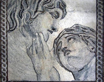 The creation of Adam Mosaic Mural