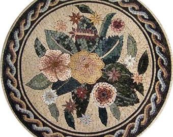 Modern Roman Petaled Mosaic
