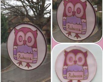 Owl sun catcher
