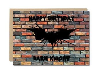 Batman Birthday Card, Dark Knight Happy Birthday Card, Marvel DC Comics Superheroes, Geeky Nerdy Greeting Cards, Why so serious, A6 size
