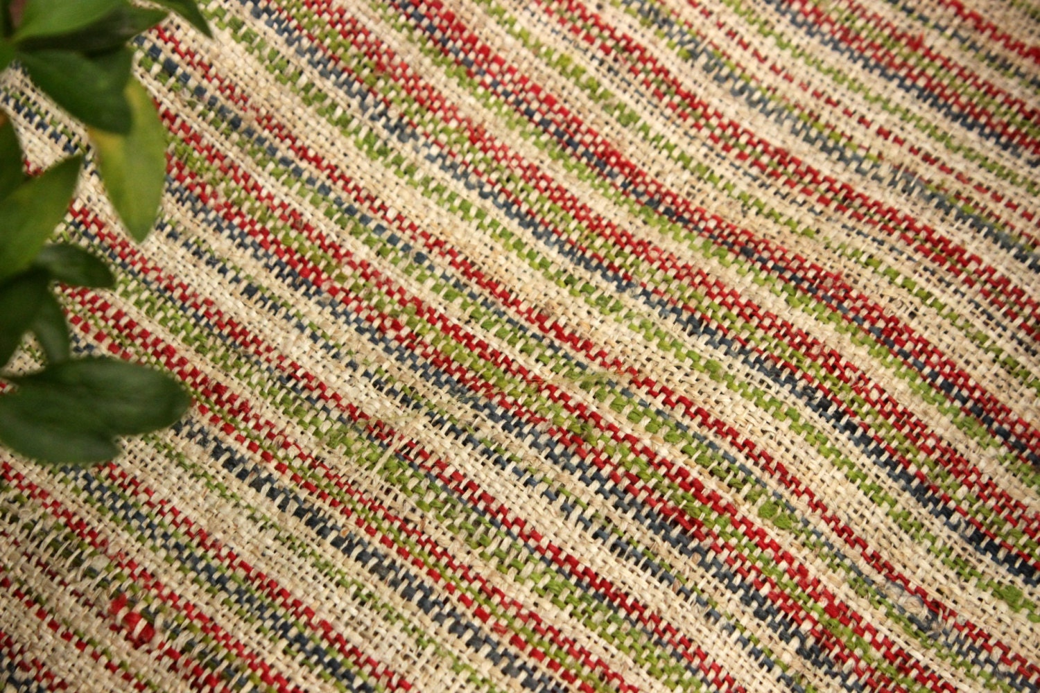 Hmong hand woven hemp wide 15 5 natural organic multi for Minecraft fabric by the yard