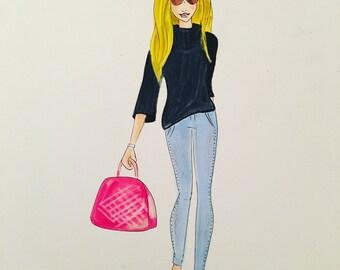 "Fashion illustration ""Liza"""