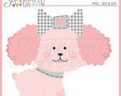 60% OFF Pink Poodle Dog Puppy Clipart Single Commercial Use License Included