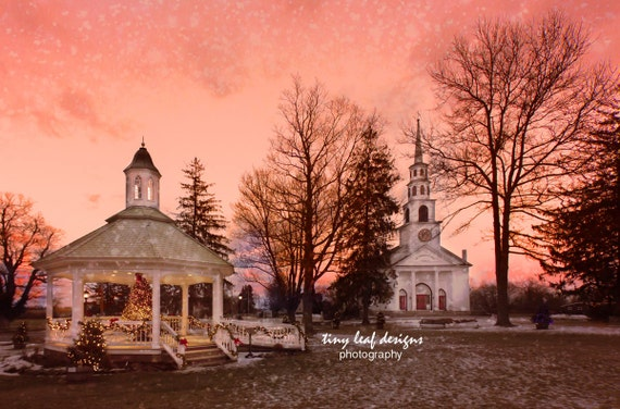 Gazebo and Church Original Photography