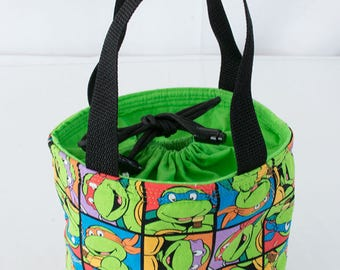Made to Order: Drawstring Lunch Tote, Lunch Bag, Insulated Lunch Sack, Food Bag