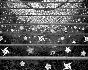 Mosaic stairs 16th Ave San Francisco art Photography Wall Decor Moon and Stars California