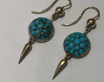 On Hold - A Pair of Persian Turquoise Antique earrings