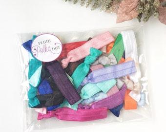 Bulk Hair Tie Pack (25) - Stocking Stuffers for Women, Hair Ties Bulk, Ponytail Holder Bracelet, No Crease Hair, Hairties, Gifts Under 20