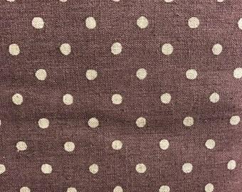 Linen mix spotty fabrics