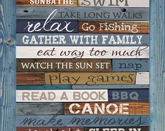 Lake rules print etsy for What are the rules for go fish