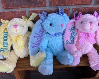 Personalized Easter Bunnies..3 colors!