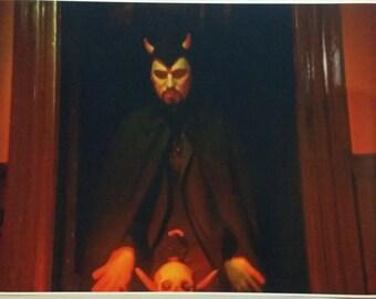 "Church of Satan Anton LaVey 32"" x 24"" Poster Art Baphomet Evil 666 Pentagram"