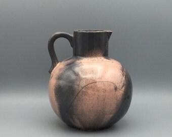 "Otto Keramik / Ceramic large  vase dark grey with pink ,,reduction glaze""  1960s , designer :  Otto Gerhards,  WGP West Germany. WGP."