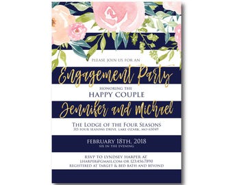 PRINTABLE Engagement Party Invitation, Engagement Party Invitation, They're Engaged, We're Engaged, Engagement Party Invitation #CL318