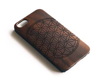 iPhone 7 Case Wood, iPhone 6S Case Wood, Wood iPhone 6 Case, iPhone 6 Case Wood, iPhone SE Case Wood, Wooden iPhone 6 Case, Flower Of Life