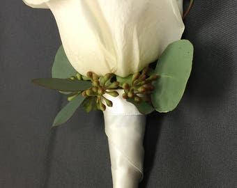 Custom Wrapped Boutonnière Vase- Magnetic