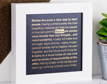 Babies Print; New Baby Gift; Baby Quotes; Gold Foil Print; Blue Print; New Mom Gift; Baby Shower Gift; New Parent Gift; FMS019