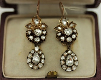 Perfect 12k gold  ottoman   diamond decorated for lady double earring