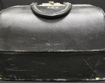 Antique Leather Doctor Bag Emdee by Schell 5681 58425 10