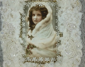 1/2 OFF Clearance Price - Snow Princess Picture And Frame