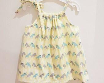 Miss Moose Pillowcase Dress - Size 6M,  1 & 2