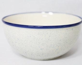 XL Vintage Schüssel NEU Maritim Steingut Keramik DDR blau Salatschüssel Backschüssel