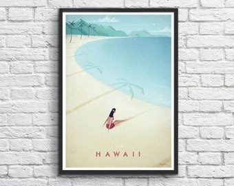 Art-Poster 50 x 70 cm - Visit Hawaii